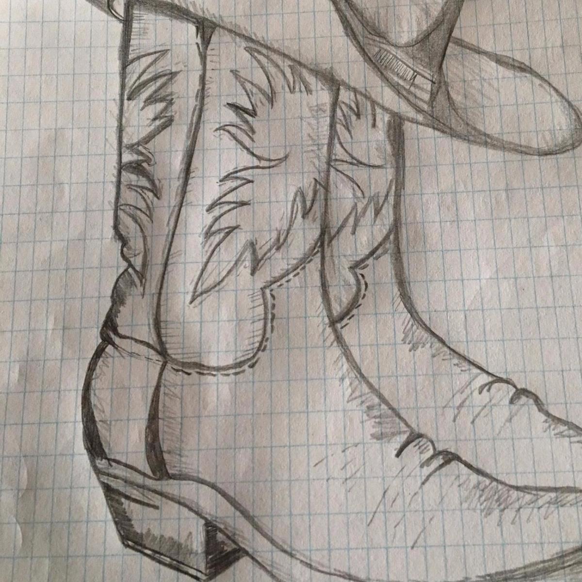 Cowboy Boots drawning